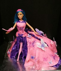 Barbie Cake (dragosisters) Tags: gown girly glitter pink butterfly dress cake barbie