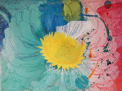DSC0966909 (scott_waterman) Tags: scottwaterman painting paper ink watercolor gouache lotus lotusflower blue bluehue