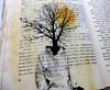 pages of me (Ines Seidel) Tags: self selfportrait book alteredbook bookpage text fairytale identity selbstporträt selbst ich seiten page buchkunst identität märchen tree baum kopf head