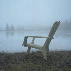 Uncertainty (BunnySafari) Tags: yashica124g twinlens kodakporta400 fpp film fog jaillands lake longlivefilm