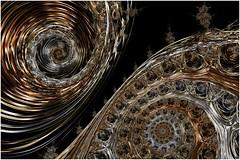 Galactic Filaments (Ross Hilbert) Tags: fractalsciencekit fractalgenerator fractalsoftware fractalapplication fractalart algorithmicart generativeart computerart mathart digitalart abstractart fractal chaos art mandelbrotset juliaset mandelbrot julia orbittrap metal sculpture spiral copper brass steel space threads