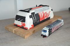 Lokomotion 185 666 Cake (Sander Brands) Tags: lokomotion rtc pie cake taart 185 666 birthday celebration roco trein treni zug train