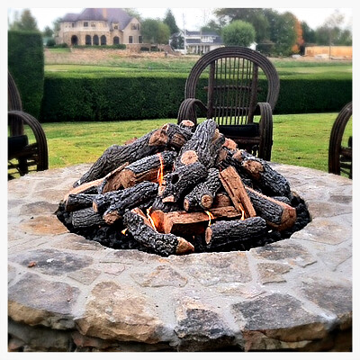 Custom Outdoor Gas Fire Pit, Chattanooga, Tn.
