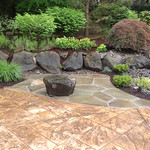 """stone patio, boulders, rock retaining wall, waterfall, creek, stream, patio, landscape, landscaping <a style=""""margin-left:10px; font-size:0.8em;"""" href=""""http://www.flickr.com/photos/117326093@N05/18358821001/"""" target=""""_blank"""">@flickr</a>"""