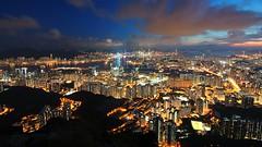 Blue hour at Kowloon Peak (jimmylau12) Tags: clouds landscape hongkong dusk sony peak tokina bluehour  kowloon nationalgeographic a77 victoriaharbour  feingoshan sonyphotographing cloudsstormssunsetssunrises