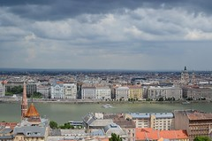 Budapest in the rain (Alexei L) Tags: city sky building rain architecture clouds river europe hungary cityscape riverside capital gothic budapest danube