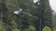 Blackhawk Close (telazac) Tags: trees canon fly us flying washington unitedstates flight helicopter whiteriver buzzed blades propellor enumclaw rotate miliary t5i