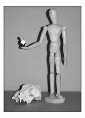Thanks big guy (DayBreak.Images) Tags: bw home mannequin fun skull lego silkypix bigeagle