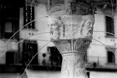 verona fountain (cosmonautix) Tags: italy film fountain verona bnw
