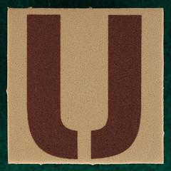 T-Shirt Printing Workshop letter U (Leo Reynolds) Tags: u letter uuu oneletter letterset grouponeletter xsquarex xleol30x xxx2015xxx