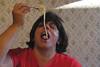 Phyllis Eating Spaghetti 1 (Sickbones_photography) Tags: family dinner canon italian goofballs