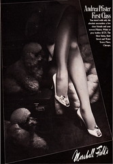 Marshall Field's 1983 (moogirl2) Tags: retro vogue 80s 1983 marshallfields vintageads vintageshoes 80sshoes andreapfister