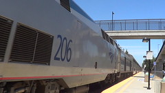 AMTK 206 (GE P42DC) in San Jose, CA (Train&Airplane Photographer) Tags: california up sanjose amtrak trainstation unionpacific dslr digitalslr ec4 coaststarlight nikond3200 railfanning amtk railroadphotography sd70ace p42dc trainphotography upcoastsubdivision upgeometrytrain upec4