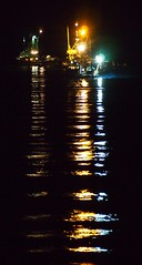 Into the Night (Parksville Qualicum Beach) Tags: canada reflection night boats lights bc vancouverisland