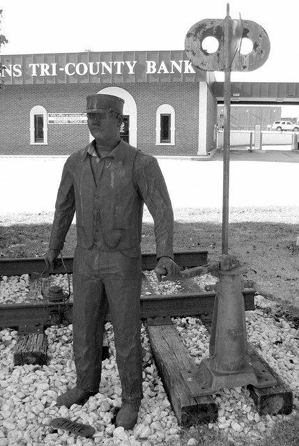 Railroad Switchman Statue - Tracy City, TN