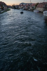 The Flow of Time (mripp) Tags: bamberg oberfranken bavaria bayern germany deutschland cityscape city urban stadt river fluss water heritage kulturerbe unesco worle site welterbe weltkulturerbe sony rx1rii blue