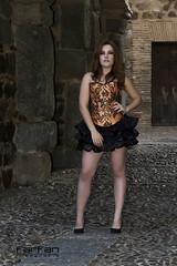 Maria (jlhuys farfan) Tags: maria farfan pelirroja naranja negro corset