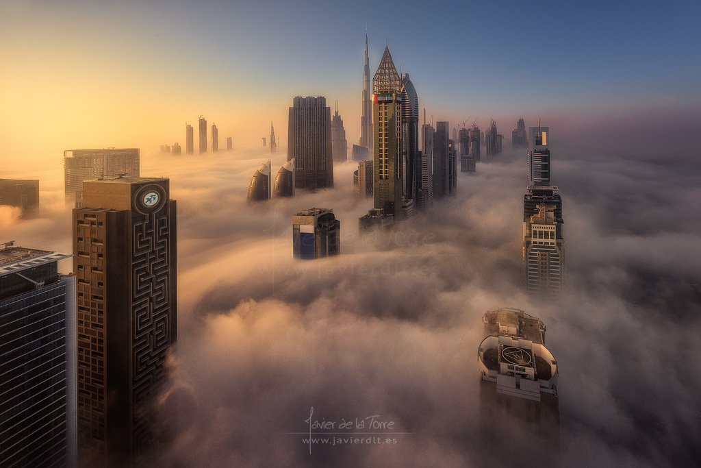 cloud city javier de la torre garca tags dubai fog city citiscape clouds
