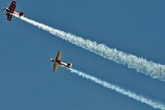 Pitts S-2C Special and Rebel 300 (skyhawkpc) Tags: 2011 intheirhonorairshow colorado usarmy buttsarmyairfield baaf fortcarson fcs kfcs airshow allrightsreserved garyverver rockymountainairsportsllc pitts s2c gregbaker n19fc aerobatic gilesaerobatics nikon d300 rebel300 s10188010 n1gz