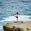 Cliff Revolver (axi11a) Tags: lajolla sunsetcliffs yoga pose coast ocean la jolla sea girl