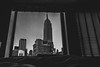 Empire State of Mind (itzdannny) Tags: blackandwhite monochrome empirestateofmind jayz empirestatebuilding bed hotel morning skyscrapers