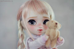 Little Usagi ♥ today ♥ (-Poison Girl-) Tags: pullip pullips custom customs full makeup faceup doll dolls poisongirlsdolls poisongirldolls poison girl usagi 2017 february rewigged new hair wig long wavy pink blonde eyes eyechips handmade handpainted repaint repainted paint realistic grey brown nose carving carved mouth lips freckles eyeshadow eyelashes kawaii japan collector cute nice sweet lovely junplanning jun planning grooveinc
