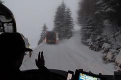 A cool ride (tom.leuzi) Tags: alpen alps berneroberland bokeh canoneos6d dof fenster schnee schweiz silhouette switzerland tamronsp2470mmf28divcusd winter bus cold cool kalt outoffocus snow window grindelwald bussalp