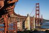 arches and bows (Thomas Sobottka) Tags: goldengatebridge sanfrancisco california usa west wideangle red blue sunny bridge