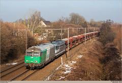 SNCF 467544 + 467629 @ Hennuyères (Wouter De Haeck) Tags: belgië belgique infrabel l96 brussel brusselzuid quévy henegouwen hainaut hennuyères sncf sociéténationaledescheminsdeferfrançais sncffret bb67000 brissonneauetlotz cargo steenslag quenast clabecq clabecqmarchandises somain