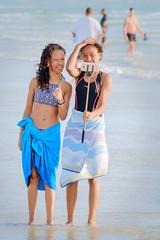 Selfie Girls (Steve Crane) Tags: helderberg southafrica strand westerncape beach girl girls people selfie selfiestick teenager