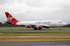 G-VLIP 4 Boeing 747-443 Virgin Atlantic Airways MAN 03JAN17 (Ken Fielding) Tags: gvlip boeing b747443 virginatlanticairways aircraft airplane airliner jet jetliner jumbojet widebody