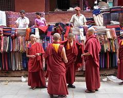 A new one? (vittorio vida) Tags: nepal khatmandu monks asia religion buddhism shopping street