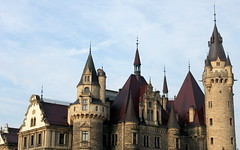 moszna spires (kexi) Tags: poland polska europe moszna castle palace spires sky blue canon november 2015 fairytale architecture towers instantfave