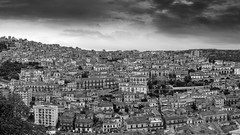 Back to the past (Blueocean64) Tags: italy italia sicily sicilia ragusa modica day duomo church eglise iglesia catedral cathedral cathédrale baroque barocco architecture unesco worldheritage bw noiretblanc monochrome ciel sky clouds cloudy nuages paysage paesaggio landscape paisaje monts hill cityscape extérieur outdoor colline city blackandwhite light montalbano panasonic g5 美丽 艺术 摄影 日落 意大利 旅游 景观 天空