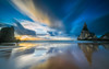 Cult zone (marcolemos71) Tags: seascape sea water waves sand rocks stones lowtide reflection sky clouds sunset blue leesw150 leend09h leebigstopper longexposure ursa beach sintra portugal marcolemos