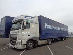 N1SJM Paul Mathew DAF XF 460 in Blackpool (j.a.sanderson) Tags: n1sjm paul mathew daf xf 460 blackpool trucks