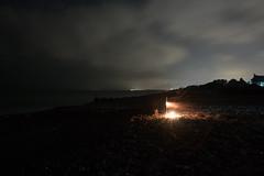 dscf2865 (LaurenceTucker) Tags: beach littlehampton angmering nye desaturated bleak night firework