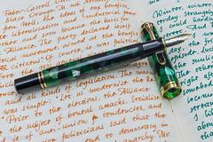 Pelikan M620 Berlin (kitchener.lord) Tags: pens pelikan m600 m620 xf27 2017 ink diamine darkgreen stationery rhodiawebbielined