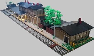 Bahnhof Waldenburg - Gesamtansicht beleuchtet (1)