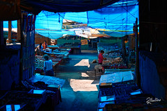 Blue Market (Riccardo Maria Mantero) Tags: mantero market riccardomantero riccardomariamantero india ladakh leh people stalls travel