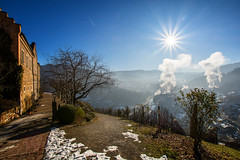Ein kalter Morgen am Schloss_Eberstein (juerger69) Tags: schlosseberstein sonne stern weinberg frost obertsrot gernsbach murgtal schwarzwald