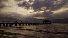 Hanalei (Glenn Guinita) Tags: hanalei kauai sunset hawaii beach pier bay ocean