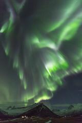 Northern lights in Faskrudsfjordur, Iceland (*Jonina*) Tags: iceland ísland faskrudsfjordur fáskrúðsfjörður auroraborealis northernlights night nótt sky himinn norðurljós longexposure mountains fjöll tungunibba jónínaguðrúnóskarsdóttir january27th2017 50faves abigfave 500views