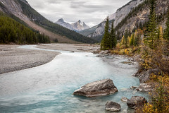 The Swift Flowing River (Kirk Lougheed) Tags: alberta banff banffnationalpark canada canadian canadianrockies canadien icefieldsparkway northsaskatchewanriver autumn fall landscape mountain nationalpark outdoor river water