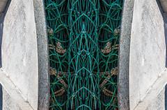 Hidden Magic (Explored) (Osohepi) Tags: julieweberfineart julieweberphoto maryland composite iron julieweberphotoimages metal curves aqua gray symmetry symmetricdesign chincoteagueisland toolsofthetrade fishingnets abstractdesign abstractfromreal abstract