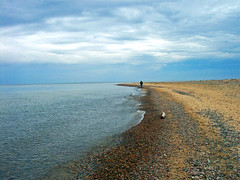 Whitefish Point (~flutterby~) Tags: sky lake beach water beauty clouds sand michigan bluesky lakesuperior whitefishpoint