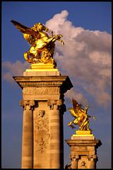 Pgases (ClydeHouse) Tags: bridge paris seine gold or pegasus artnouveau velvia pont 75007 gilded alexandre vii pontalexandreiii dor byandrew 7e pgase