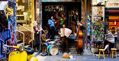 Croque Monsieur (Paul Gosney) Tags: street band jazz australia melbourne lane laneway busker gypsy flinderslane cafesociety paulgosney acmp paulgosney centrewalk