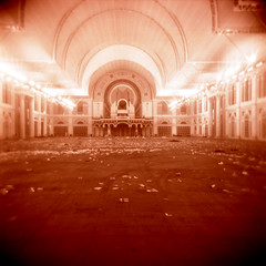 the palace (Mister Phill) Tags: london delete10 delete9 delete5 holga delete6 corridor save3 delete3 save8 delete delete4 save save2 save9 save4 xp2 alexandrapalace save5 save6 ilford concerthall
