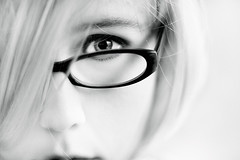 high key (seventytw0dpi) Tags: woman white eye face self hair glasses soft blond highkey ding topf200 abigfave bestthebest alemdagqualityonlyclub